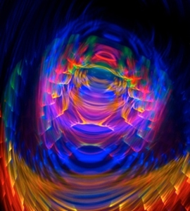 Experimental Abstract Light Photography One- Light Paintings By peter Smolenski