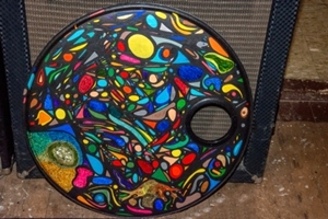 Peter Smolenski Hand Painted 20 Inch Bass Drum Head Project